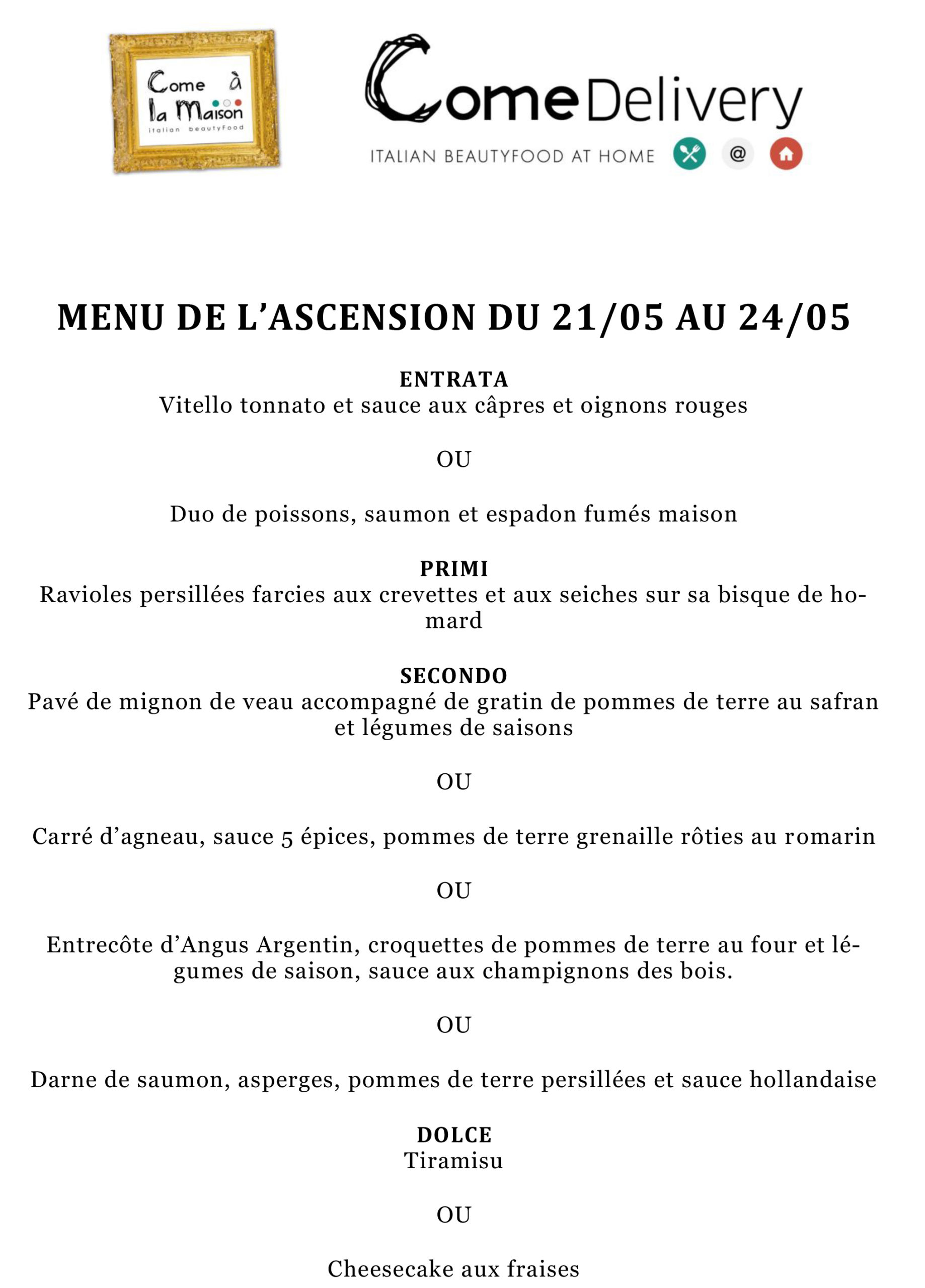 Menu de lascension