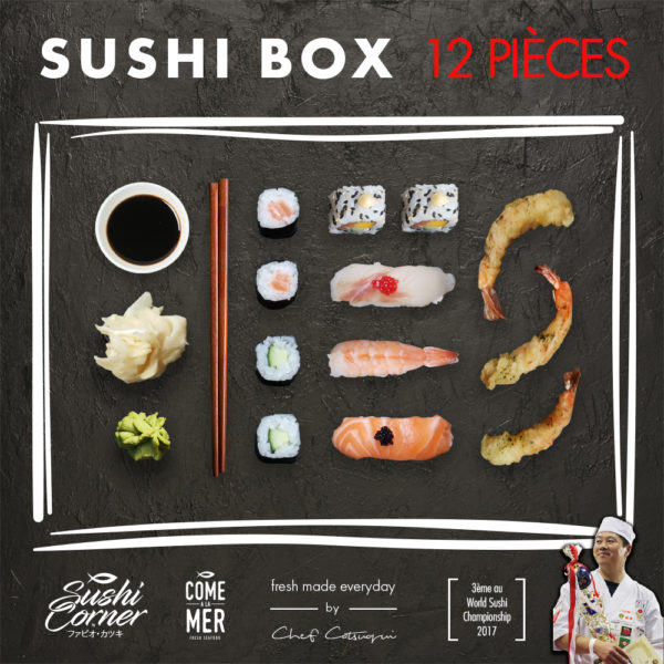 Sushi Box 12 pieces Sushi Delivery Luxembourg Come Delivery