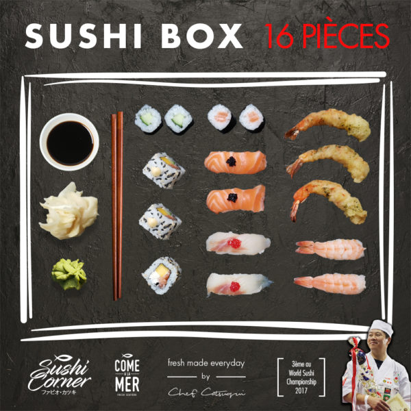 Sushi Box 16 pieces Sushi Delivery Luxembourg Come Delivery