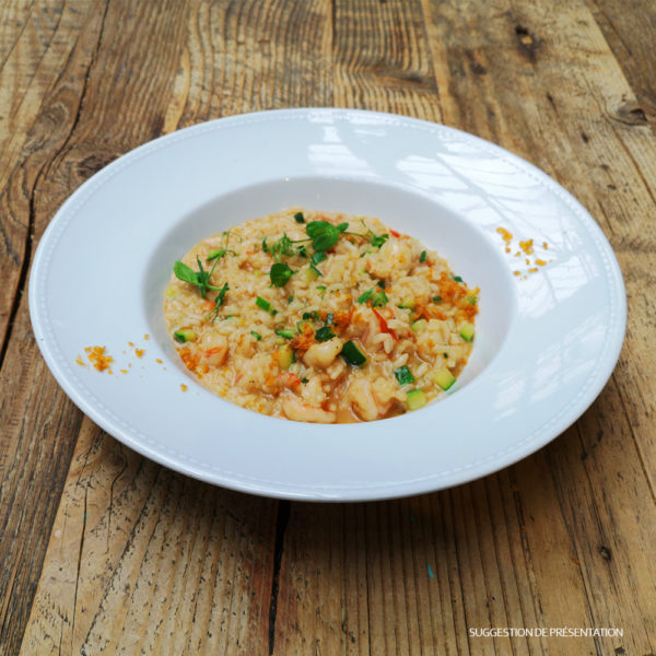 Come Delivery Risotto aux Gambas Courgettes Come à la Maison delivery Take Away Luxembourg 1
