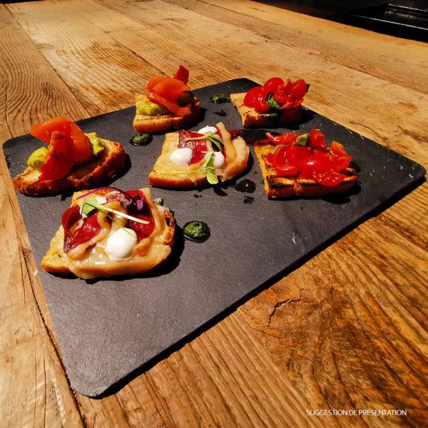 Trio di Bruschette Come Delivery Come a la Maison Food Delivery and Takeaway Luxembourg 1
