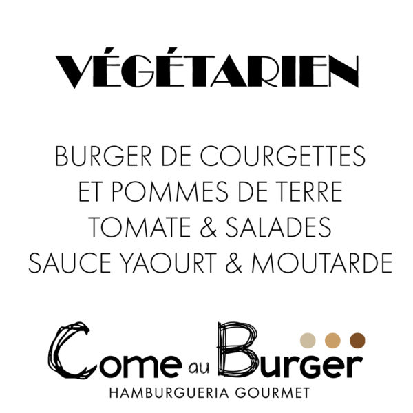 Hamburger Végétarien Come aux Burger Come à la Maison