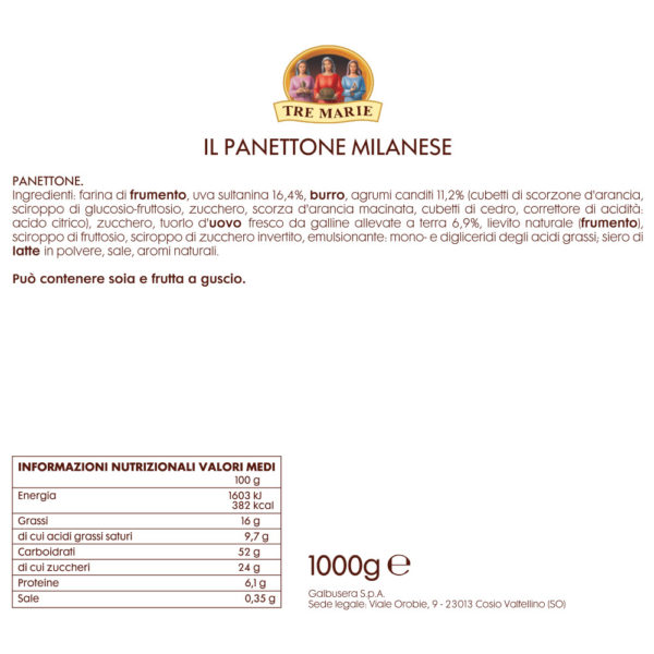 Panettone Milanese Come Delivery Epicerie Fine Take Away Delivery Luxembourg 2